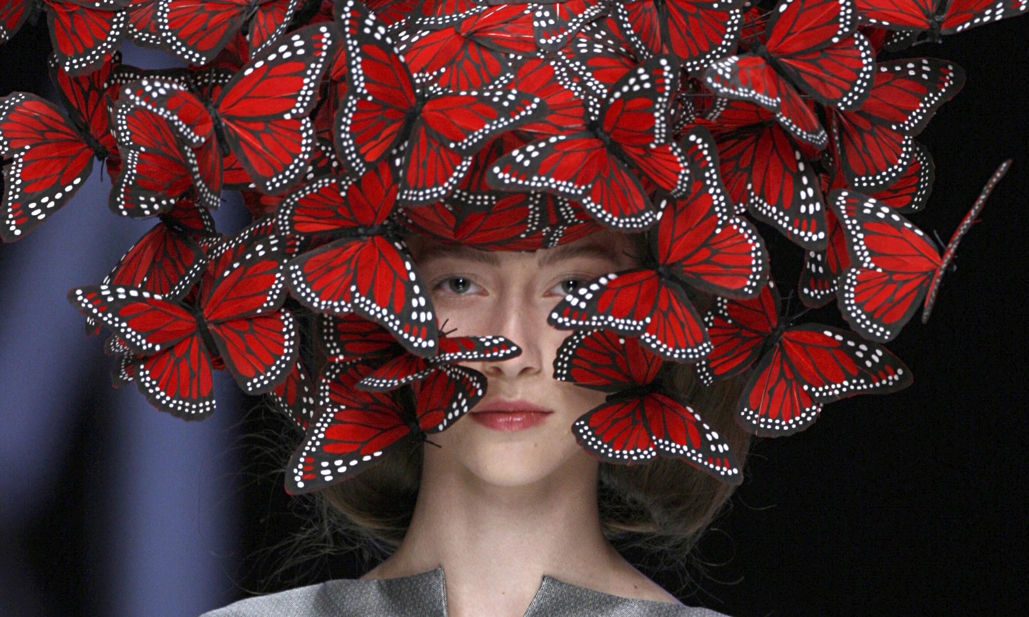 McQueen butterfly headdress