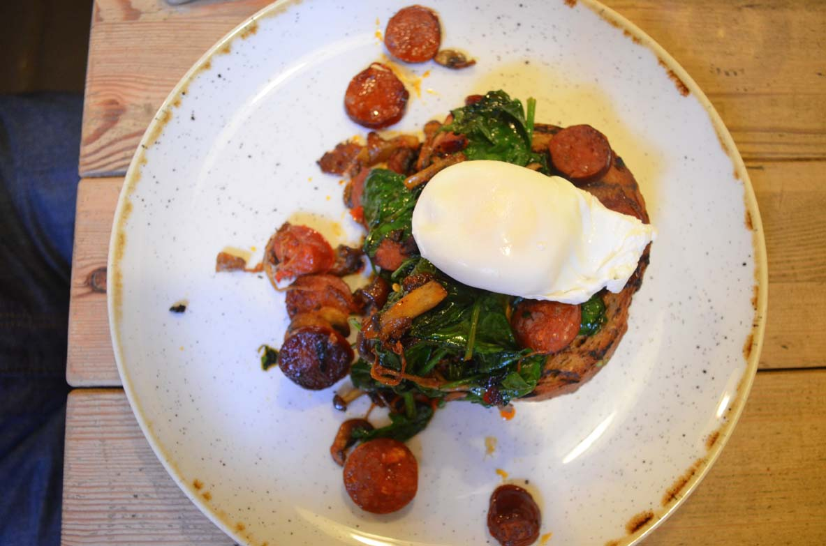 Chorizo and Mushrooms on Toast | UrbanAngel Review